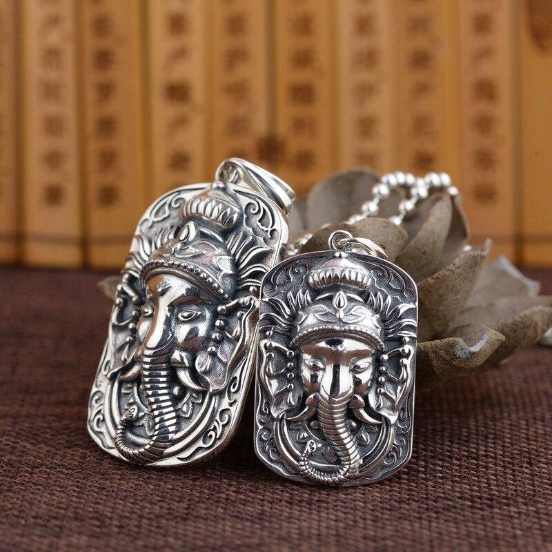Тайские Серебряные Подвески ручной работы мужские модные восстанавливающие древние пути слон моделирование оптовая серебряный медальон
