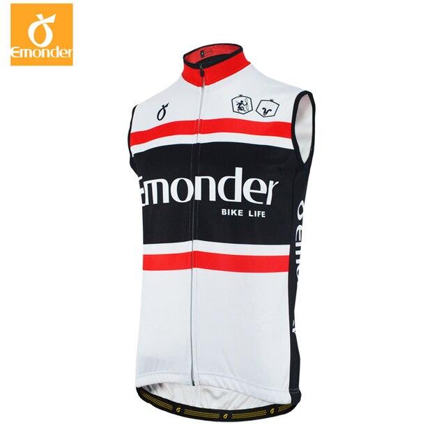 EMONDER Mens Cycling Jacket Windproof Warm Cycling Vest Sleeveless Mtb Bike Bicycle Jacket Waistcoat Winter Cycling Jersey 2019