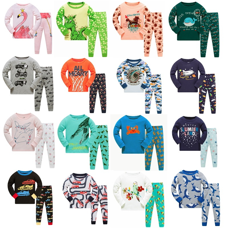 f2ae65820 Aliexpress.com   Buy Full Sleeve 100 Cotton Boys Pajamas Children s ...