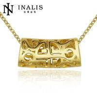 N780 Wholesale Nickle Free Antiallergic Gold Color Necklace pendants New Fashion