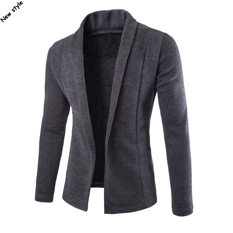 2019 Autumn Mens Long Sleeve V-neck Sweaters Casual Mens Cardigan Knitted Outerwear Fashion Mens Slim Clothing Knitted Coats