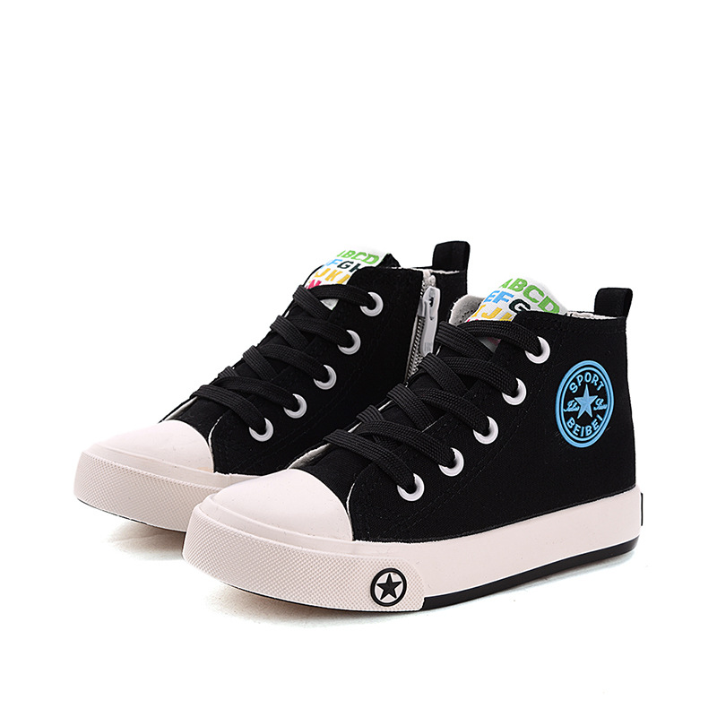 New 2017 Spring/Summer canvas baby boys girls shoes high quality Cool lace up kids sneakers casual fashion children boots new fashion boots summer cool