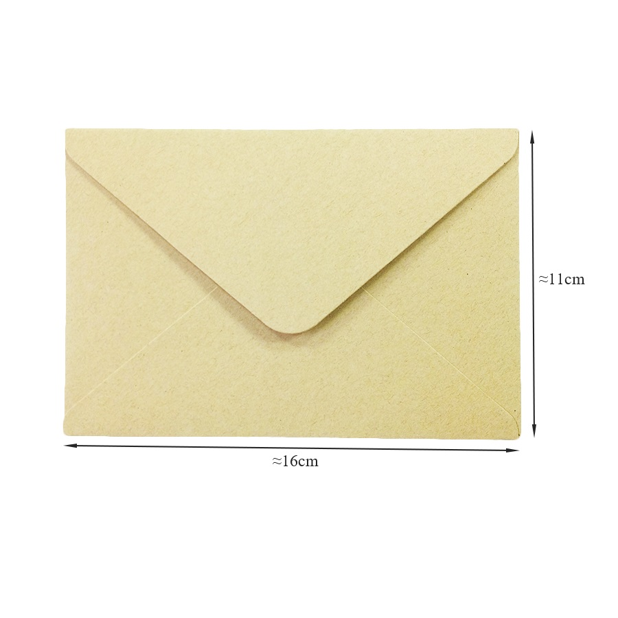 50pieces Rough grain gift card DIY Multifunction  Kraft  paper envelope  16*11cm Gift card envelopes for wedding birthday party 2