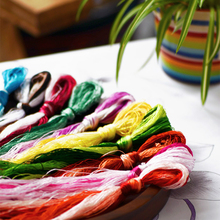 50 Colors 20m Suzhou Embroidery DIY Common Color Silk Line Branch Manual  Wholesale Embroidery thread