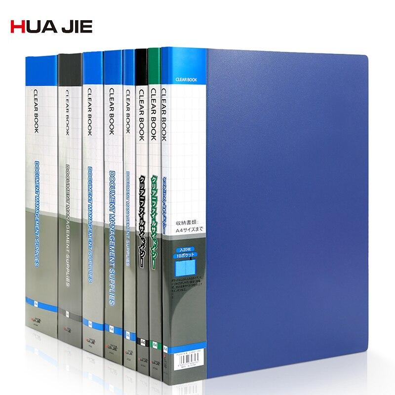 Transparent Display Book Business Paper Storage Bag Document File Folder Office Stationery Filing Products Office Folder HF10AP