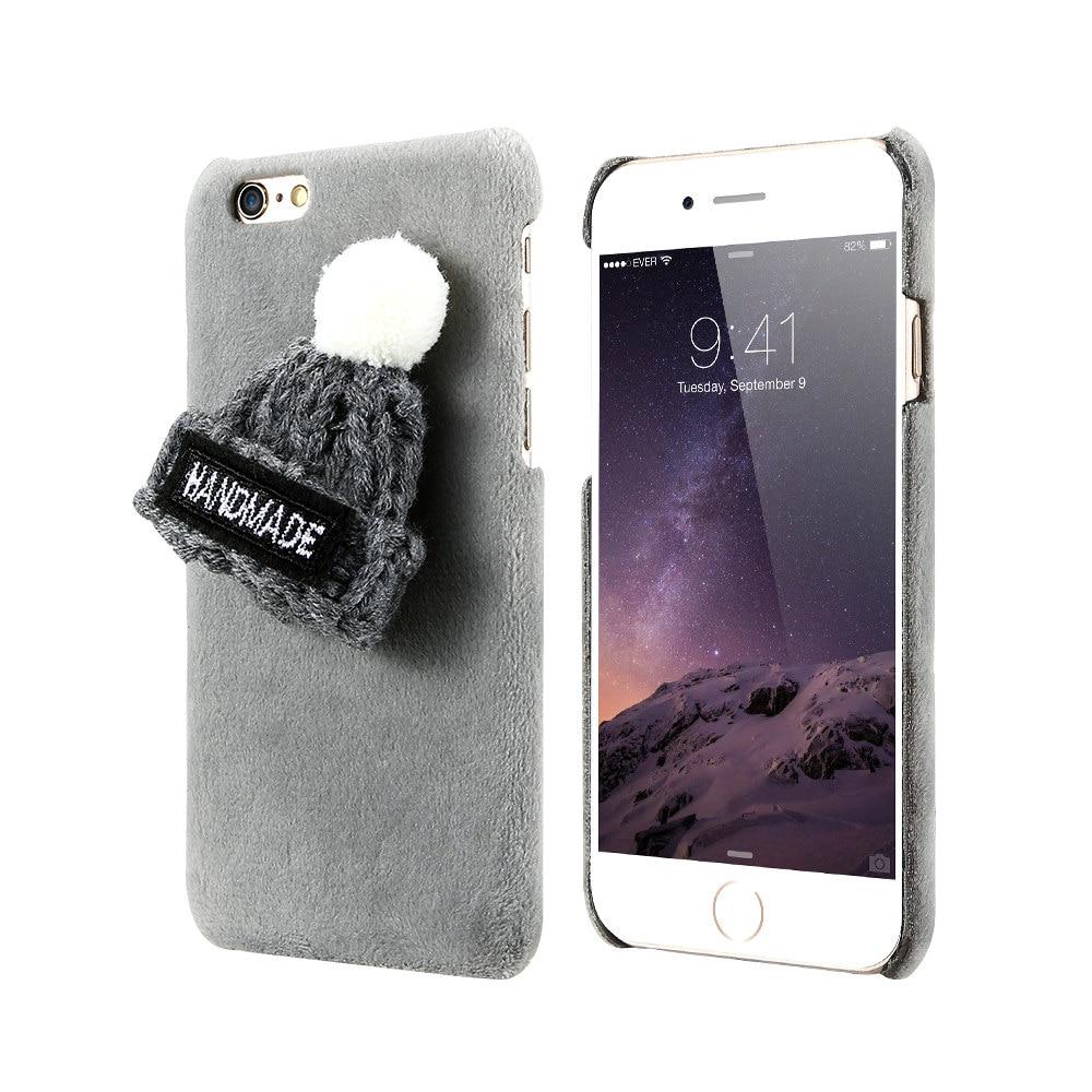 Winter Warm Lovely Case para iPhone 7 8 Plus XS Max XR X 6 6s Plush - Accesorios y repuestos para celulares - foto 6