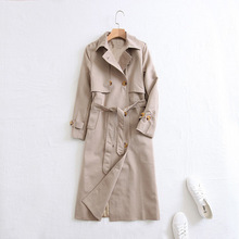 2019 Women Autumn Coat Turn Down Collar Long Sleeve Women Trench Coat With Belt