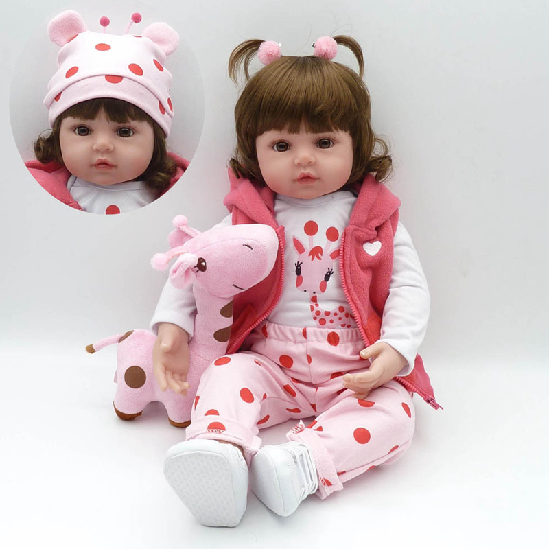 New 22 Doll Reborn Toys Soft Cloth Body Silicone Toddler Reborn Babies Pink Clothing Full Set Girl Realista Fashion Dolls Gift