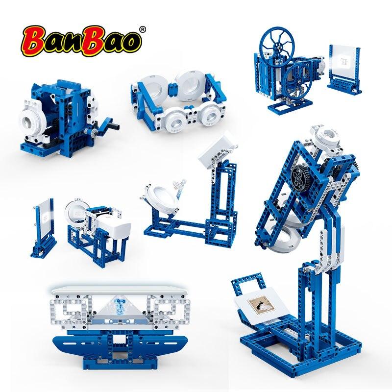 BanBao 14 Em 1 Exploração Técnica Óptica Luz Experimento Máquina Tijolo Modelo Educacional Blocos de Construção de Brinquedo Das Crianças Das Crianças 6922