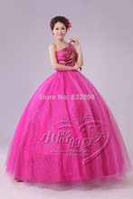 Natural Chiffon Floor-length Ball Gown Slash Neck Lace Regular Beautiful Sleeveless Rose Wedding Party Dress Prom
