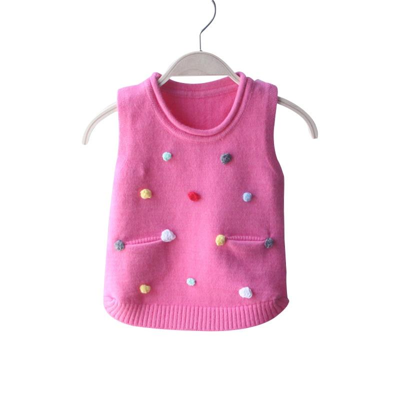 Pullover Baumwolle Feste Baby Pullover Weste Sleeveless Oansatz Jungen Kleidung Mode Gestrickte Mädchen Pullover Weste Frühling Herbst Im Freien Kleidung Jungen Kleidung