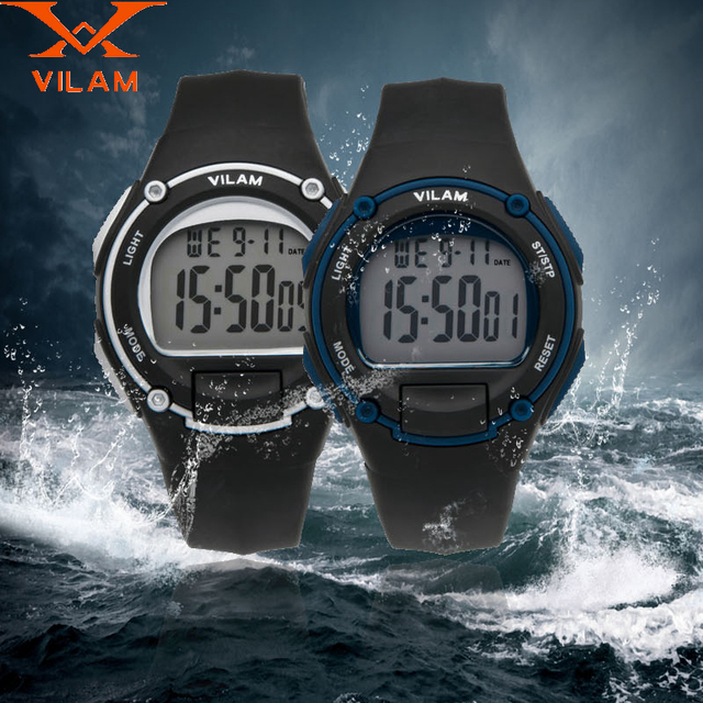 VILAM 2016 fashion Watch Super dive Waterproof outside men female students sport watches boys girl's Children's Digital Watches