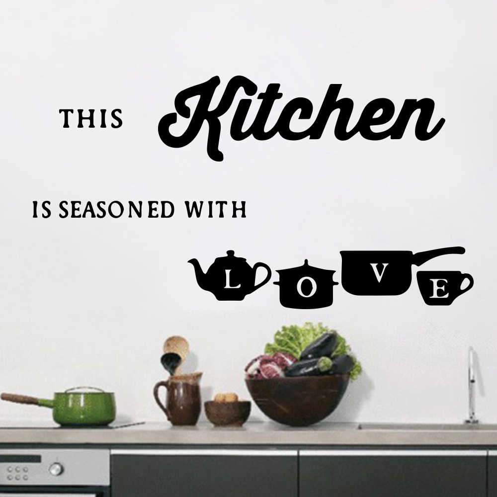 Poster Cuisine Large Kitchen Wall Sticker Cuisine Coffee Vinyl Stickers Poster House Decoration Accessories Mural Decor Wallpaper Wallstickers