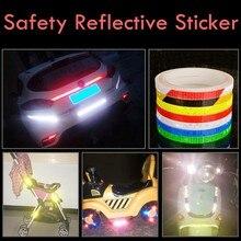 Флуоресцентные светоотражающие наклейки для горного велосипеда, ПВХ клейкая лента, светоотражающая лента безопасности, предупреждение, Крутое Украшение DIY 8 м/315 дюйма