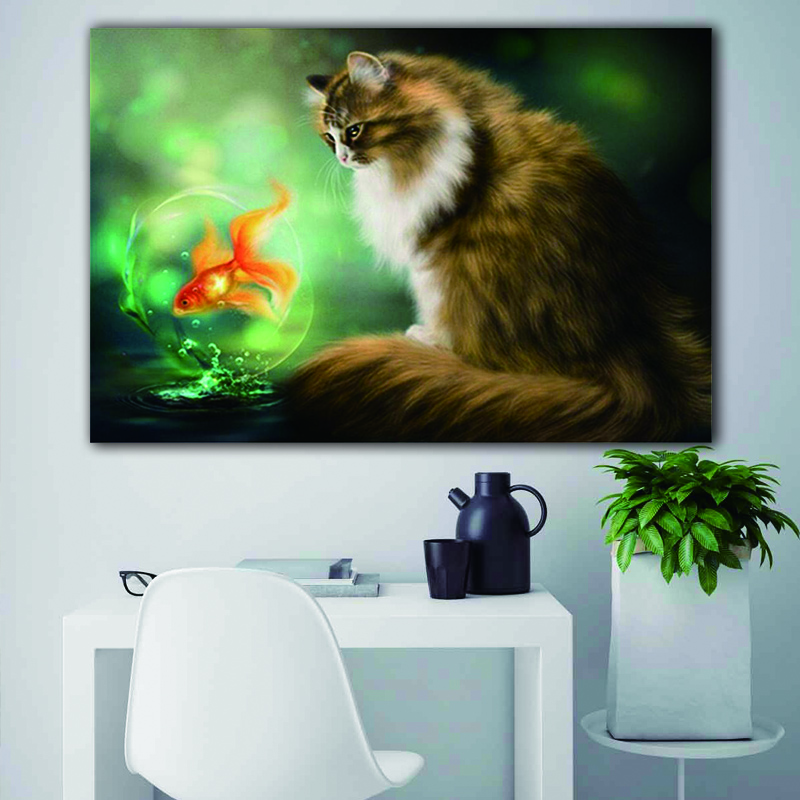 Paint By Number Art Painting By Numbers Art Cute Animal Plant Cat Fish Bird Living Room Bedroom Decorative Painting