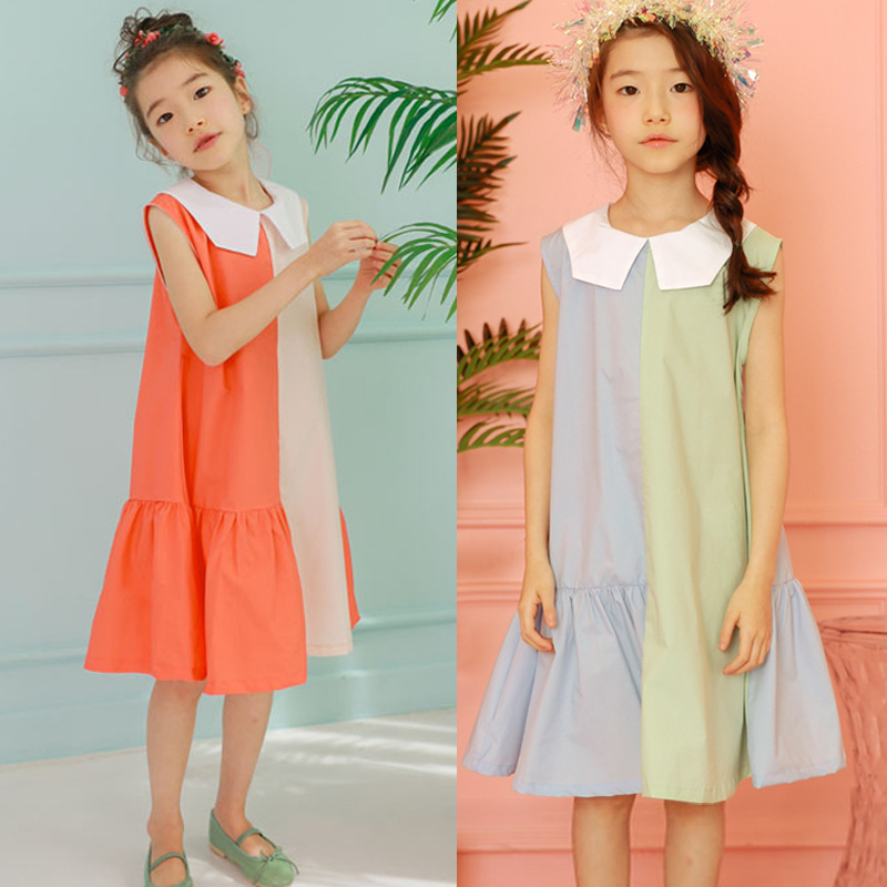 Summer 2019 Dresses for Girls Sleeveless Patchwork Clothes Cotton Princess Costume Teen Preppy Style Dress 5 6 8 10 12 14 15YearSummer 2019 Dresses for Girls Sleeveless Patchwork Clothes Cotton Princess Costume Teen Preppy Style Dress 5 6 8 10 12 14 15Year