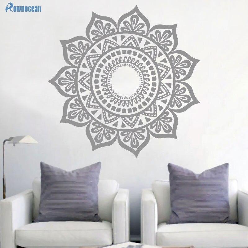 Custom Color Mandala Үнді Үстел Yoga Wall Stickers - Үйдің декоры - фото 5