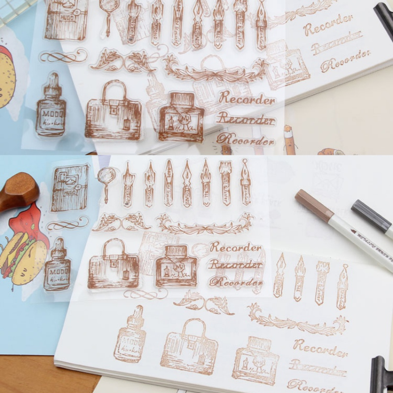 Retro Clear Rubber Stamp Sheet Cling Scrapbooking DIY Stamp Eiffel Tower Building Transparent Silicone Scrapbooking Die Cut