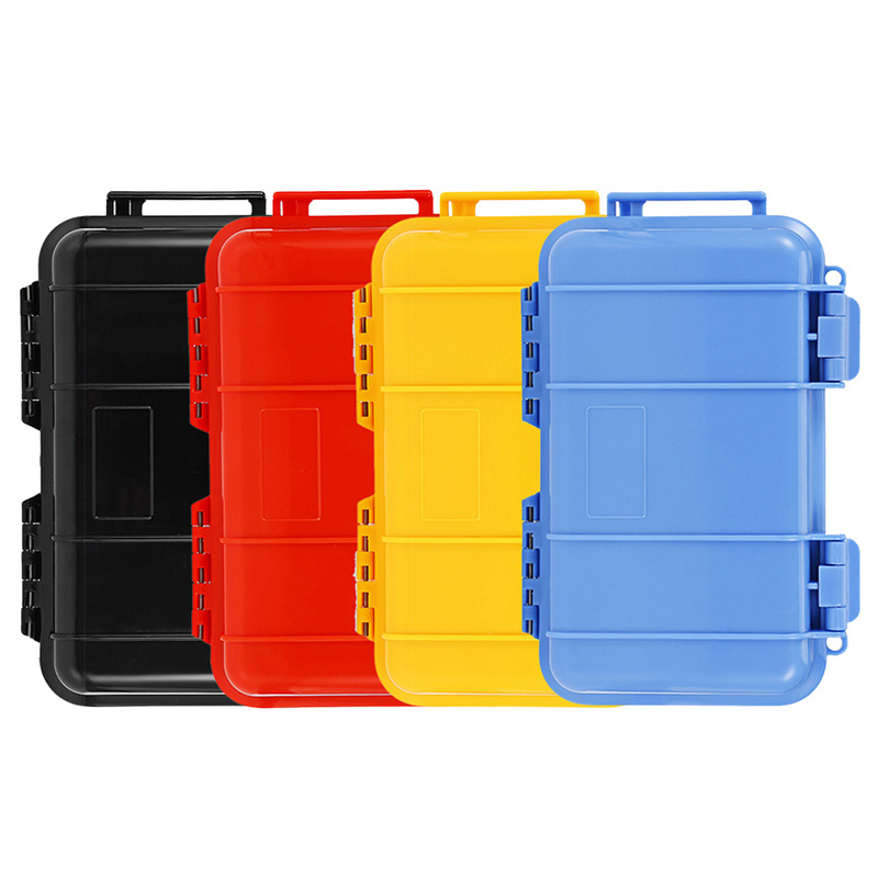 Large Outdoor Waterproof Shockproof Survival Case Container Storage Carry Box EDC Field Survival Tool Portable Phone Protect