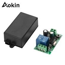 Aokin 433 МГц Универсальный беспроводной пульт дистанционного управления AC 85 в 110 В 220 В 1CH релейный модуль приемника для ворот гаража открывания двери