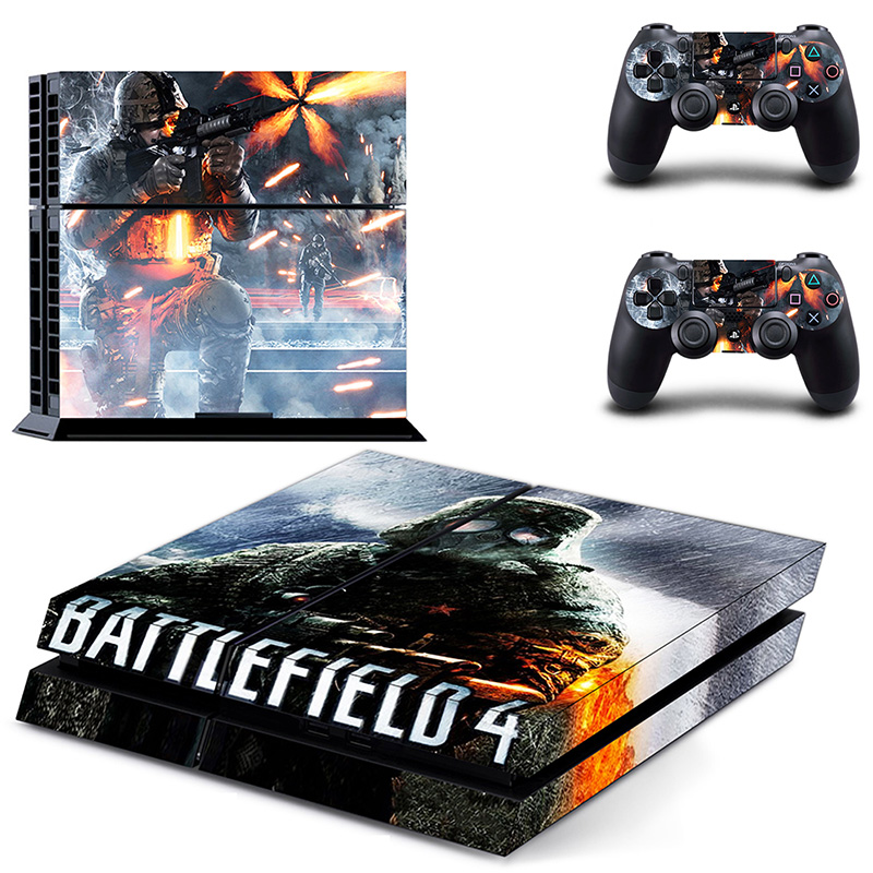 Homereally ps4 skin battlefield 1 vinyl decal sticker cover for sony playstation 4 console and controller ps4 skin accessory in stickers from consumer