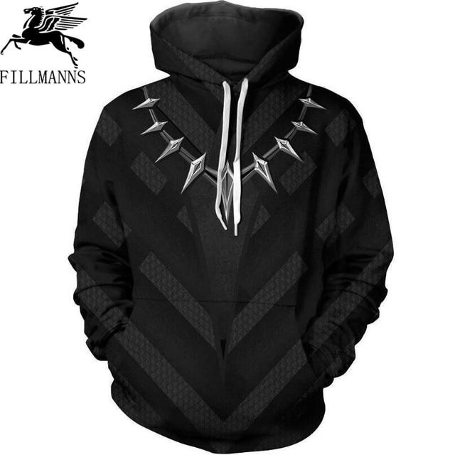 Avenger 3d Sweatshirts Men/Women Hoodies With Hat Print Black Panther Autumn Loose Hoody Thin Hooded Tops Hoody Outwear