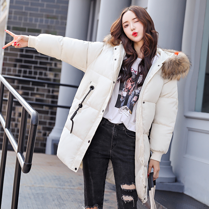 KUYOMENS Female Jacket Large Faux Fur Winter Jacket Women 2018 Warm Thicken Hood Winter Coat Women's Cotton Down Parka