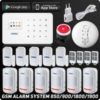 Английский Русский Kerui Беспроводной GSM дома охранной сигнализации Системы ISO Android APP охранной сигнализации Системы Беспроводной дыма