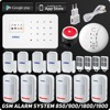 English Russian Kerui Wireless GSM Home Security Alarm System ISO Android APP Security Alarm System Wireless