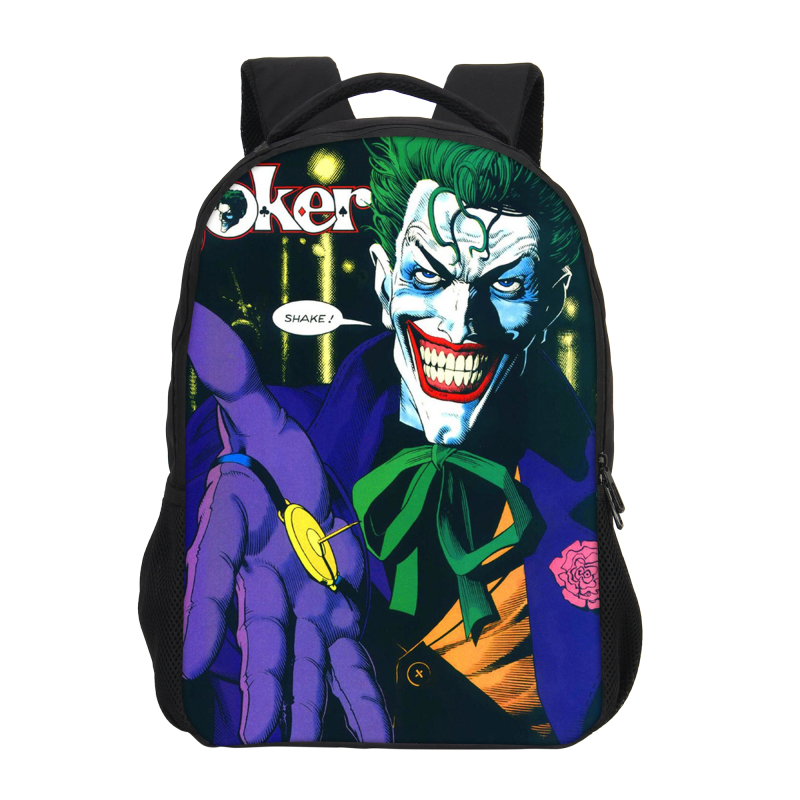 Veevanv Batman Clown Joker School Bags Children Backpack Fashion Printing Laptop Shoulder Bag Boys Cool Bookbag Cartoon Daypacks