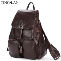 2016 Women Genuine Leather Backpacks Famous Brand Vintage Backpacks For Teenage Girls School Bags Real Leather