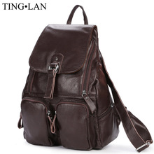 Women Genuine Leather Backpacks Brand Ladies Fashion Backpacks For Teenagers Girls School Bags Real Leather Travel Bags Mochila