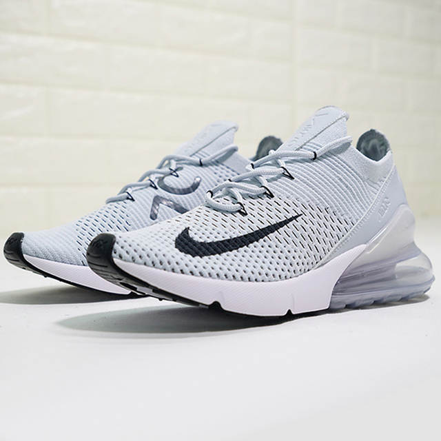 detailed look e9002 64400 Authentic Nike Air Max 270 Flyknit Men's Comfortable Running Shoes Outdoor  Sneakers Good Quality 2018 New Arrival AO1023-003