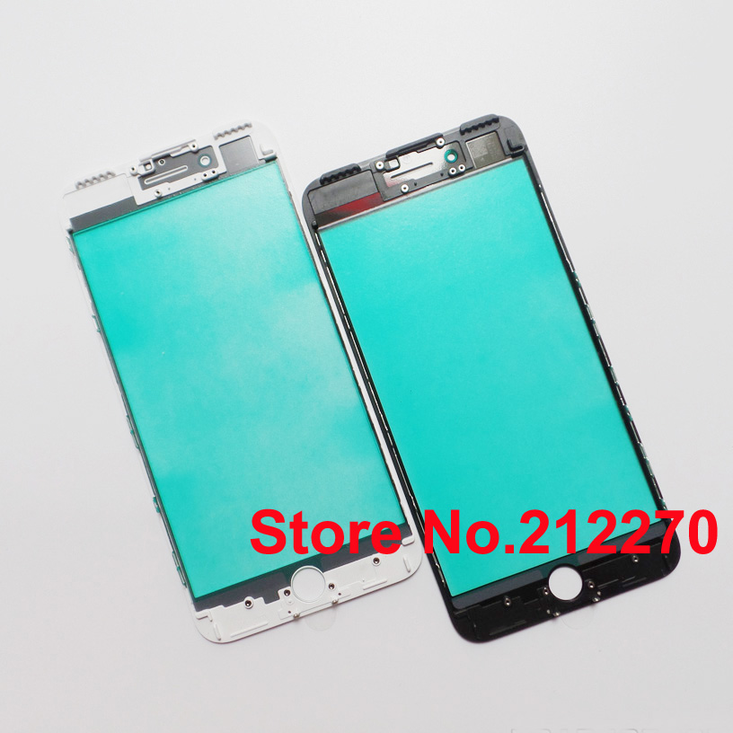 30pcs lot New Front Outer Glass with Middle Frame Bezel For iPhone 7 Plus 5 5