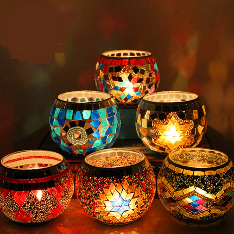 Candlestick night light creative wedding birthday gift bar retro glass candlestick Home Furnishing decorative lamps  ZA11228 кашпо gift n home сирень