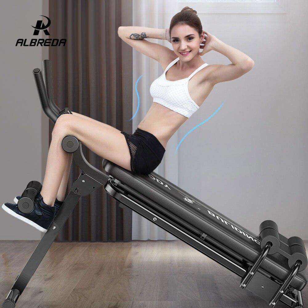 ALBREDA Machines de Fitness multifonctions pour la maison s'asseoir banc Abdominal planche de fitness équipements d'exercice abdominaux entraînement de gymnastique - 2
