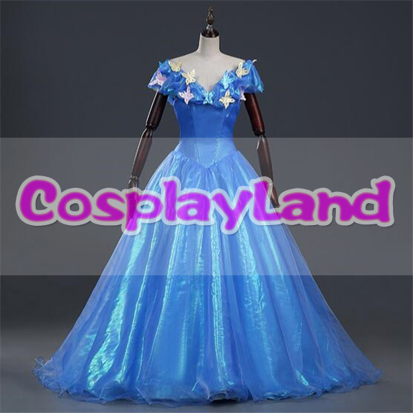 Princess Cinderella Wedding Dress Costume For: New Movie Princess Cinderella Dress For Adult Cinderella