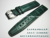 20 mm Handmade True crocodile skin Watchbands deep blue Yellow green VINTAGE Wrist Watch Band Straps Belt for man branded watch
