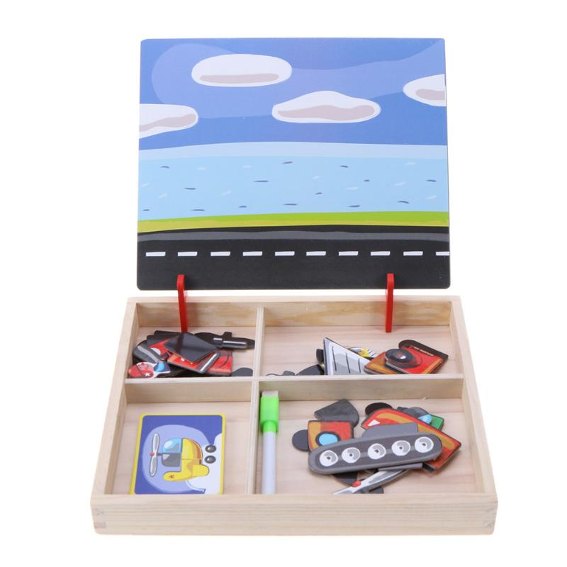 Image 5 - 3D Wooden Kids Educational Pretend Play Learning Toys Magnetic Puzzle Wood Toy Wooden Puzzles For Kids Wooden Puzzles Game Gift-in Puzzles from Toys & Hobbies