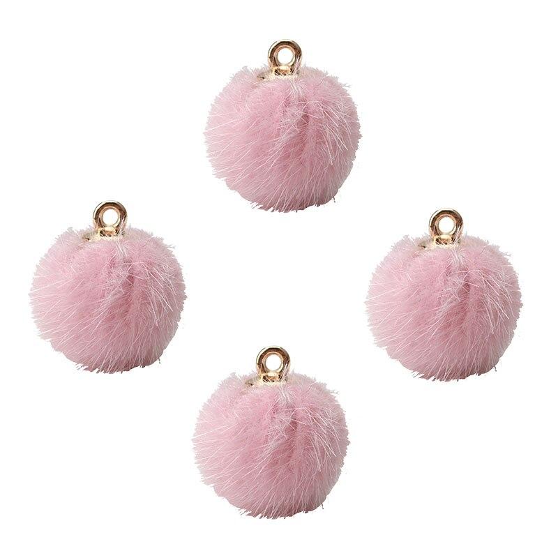 10 шт./лот 18*16 мм модные плюшевые мяч талисманы Hairball Золото Цвет темно синие модные DIY ювелирные аксессуары ‒ серёжки решений