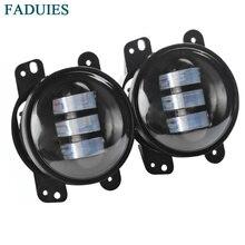 """Faduies 1 пара 4 """"круглый светодиодный Противотуманные фары Фары для автомобиля 30 Вт переднего бампера светодиодный фонарь в сборе для Jeep Wrangler CJ TJ JK 07-15"""