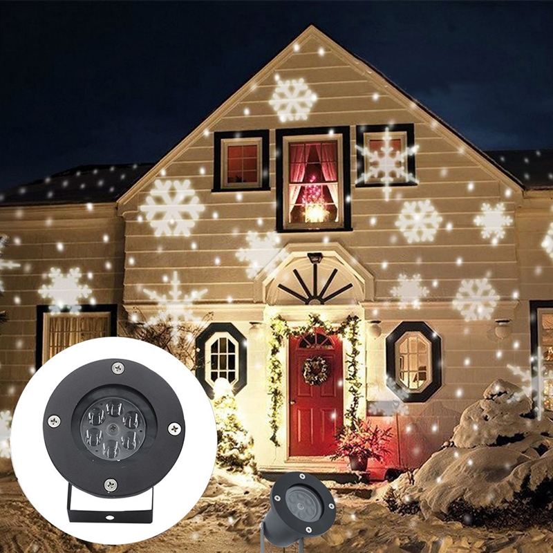 Litwod Outdoor Snowflake LED Stage Snow Lights Waterproof Christmas Holiday Light Plastic White & RGB Color Lights 220V 110V