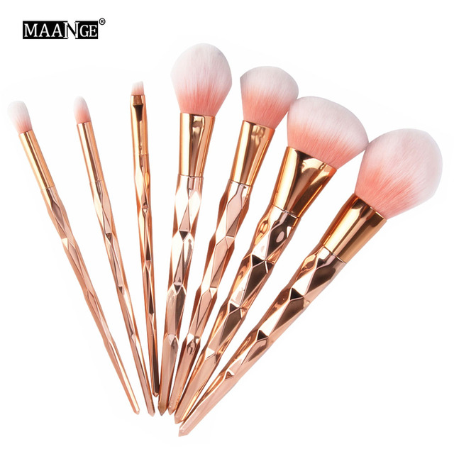 MAANGE 7/10Pcs Diamond Makeup Brushes Set Powder Foundation Eye Shadow Blush Blending Cosmetics Beauty Make Up Brush Tool Kits 1