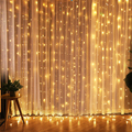 ROPIO светодиодный светильник с мерцающей звездой 3 * 3M светодиодный светильник для занавесок на окно для свадебной вечеринки домашний сад спа...