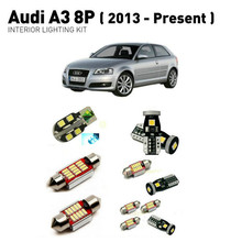 цена на Led interior lights For Audi a3 8p 2013+  16pc Led Lights For Cars lighting kit automotive bulbs Canbus