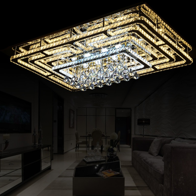 Luxury crystal LED ceiling lamp Home and commercial place decorative lighting Ceiling lights