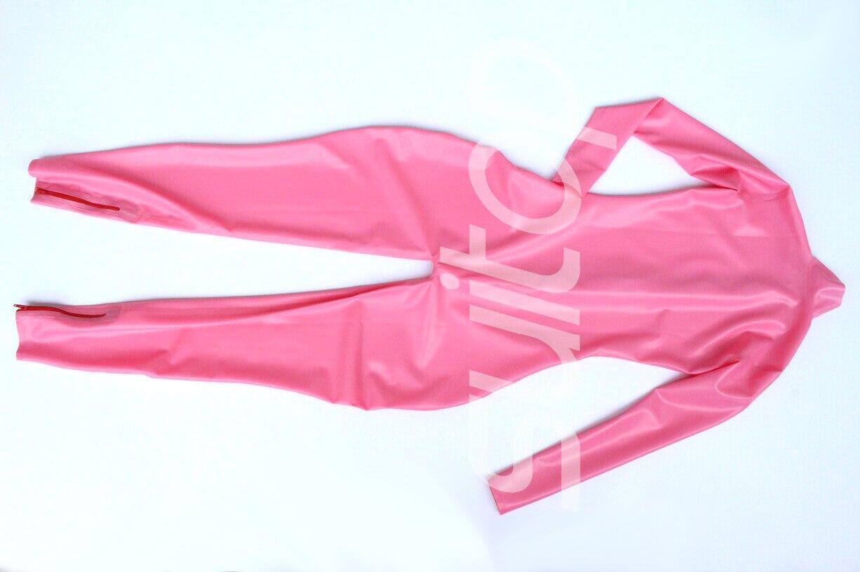 Sexy Suitop Caoutchouc Pink Combinaisons 2 3 Pour Pink pink Body baby Unisexe Latex Adulte Nounours rose Rose Catsuits En Club fr7Sngqpf