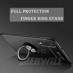 Image 2 - Armor case Voor Xiao mi mi max 3 case Beschermende Bumper Vinger Ring Houder Zachte Siliconen Matte Back Cover Voor Xiao mi max 3 Gevallen