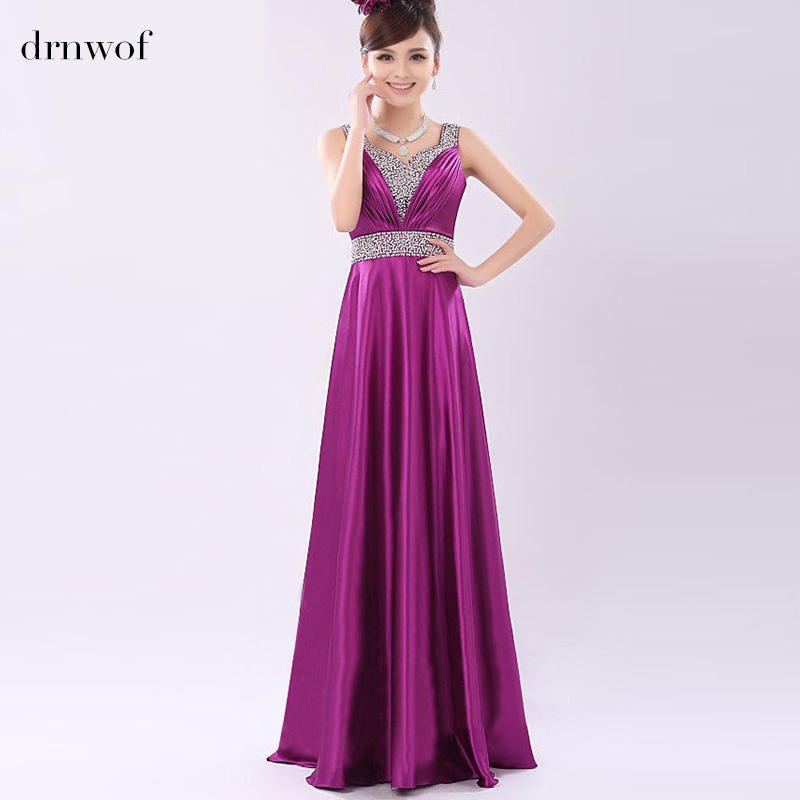 2017 New Purple Long Bridesmaid Dresses with Sequined Women Color ...