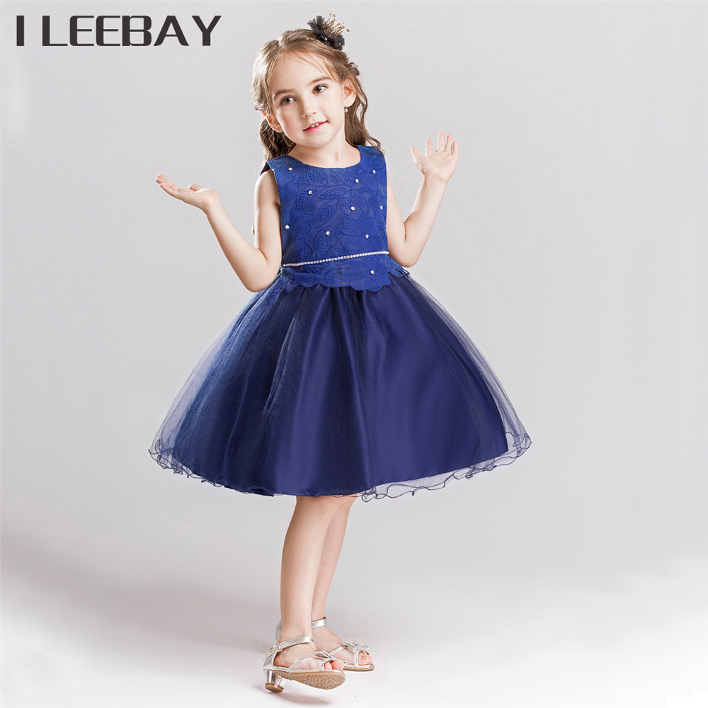 Flower Girl Tutu Dress Kids Birthday Party Dress Children Bow Lace Tulle Costume Roupas Infantis Menina